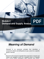 Module 2 Demand Analysis
