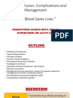Blood Transfusion, Complications and Management