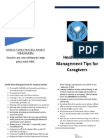 healthy stress management for caregivers