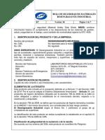 Pd Ot 167 Hoja de Seguridad Desengrasante Industrial