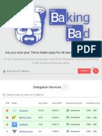 Baking Bad - Tezos Delegation Auditor - Ratings Snapshot 24th July 2019