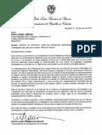 Carta a Mario Gómez Fiscal Delegado para la Infancia y Adolescencia