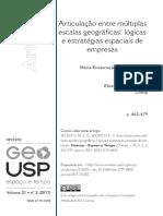 Vista Do Articulação Entre Múltiplas Escalas Geográficas_ Lógicas e Estratégias Espaciais de Empresas