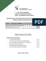 Proyecto de Plan Estrategico de La Empresa Dampar.
