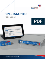 Spectano 100 User Manual