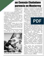 24-07-19 Conforman Consejo Ciudadano de Transparencia en Monterrey