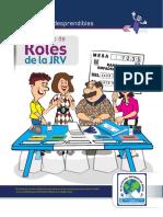 Kit de Fichas Desprendibles 1 de 2, Roles JRV Elecciones Generales 2019, TSE Guatemala