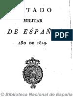 Estado Militar de España (Ed. en 16º). 1829