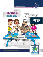 Kit de Fichas Desprendibles 2 de 2, Roles JRV Elecciones Generales 2019, TSE Guatemala