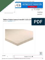 Tablero Triplay Lupuna 4 Mm B_C 1.22 x 2.44 m - Remasa - 412945