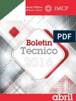 04-Boletin Tecnico 2016 Abril