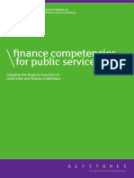 Finance Competencies for Public Services