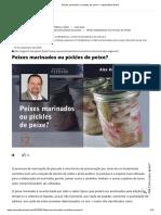 Peixes marinados ou pickles de peixe_ - Aquaculture Brasil