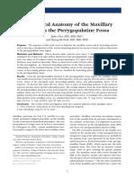Clinical Anatomy Maxillary Artery