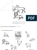 Lectoescritura Animales