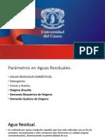 Tema 7. Aguas Residuales, Od, Dbo, Dqo,Cot