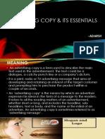 Advertising Copy & Its Essentials