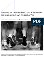 PLAN DE ENTRENAMIENTO DE 16 SEMANAS PARA BAJAR DE 3_45 EN MARATÓN – Marathon Ranking
