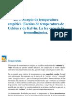 2.3 Concepto de Temperatura Empírica. Escalas de Temperatura de Celsius y de Kelvin. La Ley Cero de La Termodinámica