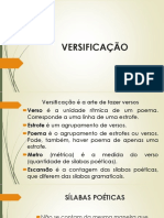 Slide 3 - Versificação