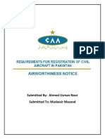 Requirement for Registration of Civil Aircraft in Pakistan