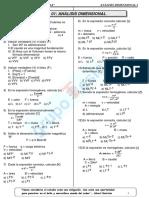 Ficha de Física Nº 01 - Análisis Dimensional