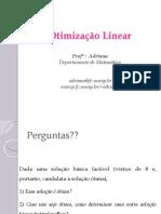 Otimização Linear PO5 Método Simplex