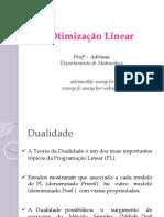 Otimização Linear-PO7e8-Dualidade e Método Dual Simplex