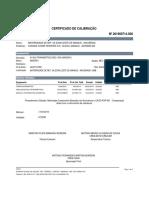 Certificado de Calibração 201900714