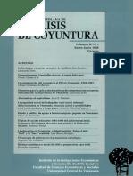 Analisis de Coyuntura Volumen II No 1 Enero Junio 1996