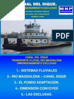 MNP Canal Dique Esclusas Transporte Fluvial 2019