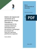 Análisis Del Impacto Del Incremento de La Generación de Energía Renovable No Convencional en Los Sistemas Eléctricos Latinoamericanos (1)