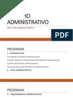 Derecho Administrativo - Normas y Principios generales
