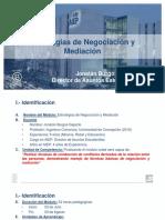 Identificación Del Módulo - Estrategias de Negociación y Mediación