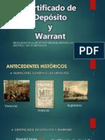 DIAPOSITIVAS - Certificado de Depósito y Warrant
