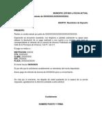 Carta Peticion Devolucion de Deposito