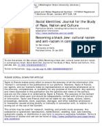 Becoming a Black Jew- Cultural Racism AndAnti-Racism in Contemporary Israel
