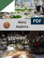 Madeira 2019 Menu