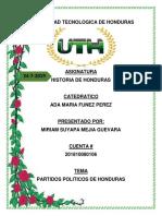 Historia de Honduras Tarea #6