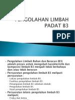 Pengolahan Limbah Padat b3