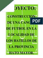 Proyecto de Cancha de Futbol