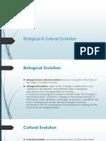Biological & Cultural Evolution 2