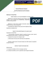 Cash Flow Analysis Word