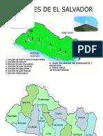 Volcanes de El Salvador Mapa