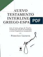 nuevo testamento interlineal griego español EVANGELIOS