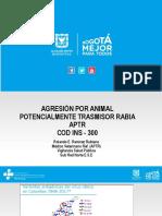 Agresión o Contacto Por Animal Potencialmente Transmisor de Rabia - Evento 300 2019