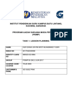 (Grammar)Task 1 Daily Lesson Plan and Task 2 Materials (Example of Dania's lesson plan)