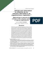 Metodología para determinar la evolución de los sistemas de información