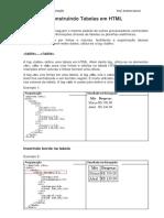 Desenvolvimento de Tabelas Em HTML Prof Andrea Garcia