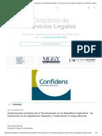 Implicancias Actuales de La Tercerización en La República Argentina - Su Desarrollo en La Legislación Vigente y Tratamiento Jurisprudencial _ Abogados.com.Ar